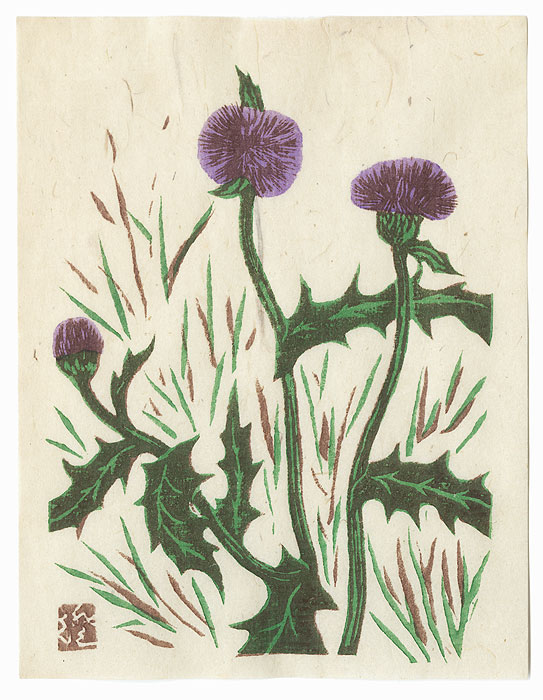 Thistles by Kawakami Sumio (1895 - 1972)