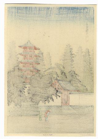Temple of Kinugasa by Shotei (Takahashi Hiroaki) (1871 - 1945)