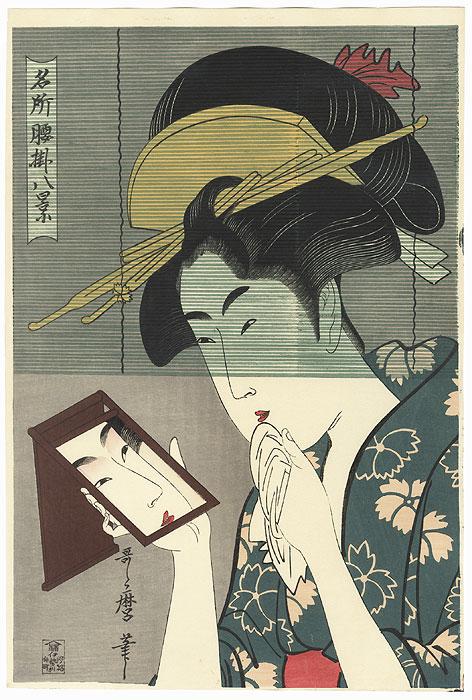 Oseyo of the Hiranoya Teahouse by Utamaro (1750 - 1806)