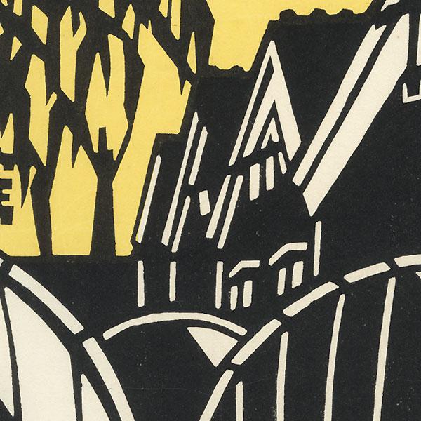 Sake Vats by Shin-hanga & Modern artist (not read)