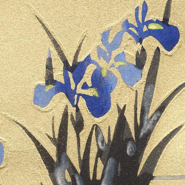 Irises by Shin-hanga & Modern artist (unsigned)