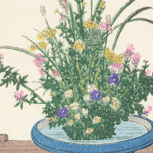 Autumn Flower Arrangement by Shin-hanga & Modern artist (not read)