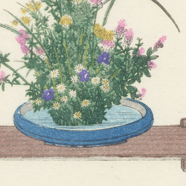 Autumn Flower Arrangement by Shin-hanga & Modern artist (not read)