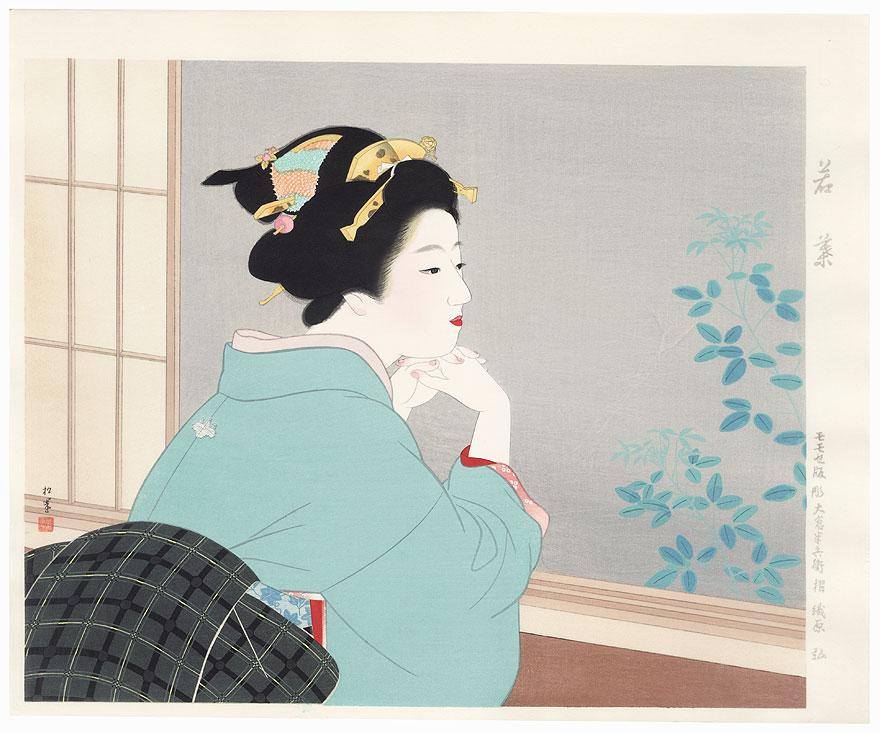 Spring Leaves by Uemura Shoen (1875 - 1949)