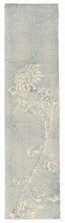 Chrysanthemum Tanzaku Print by Shin-hanga & Modern artist (unsigned)