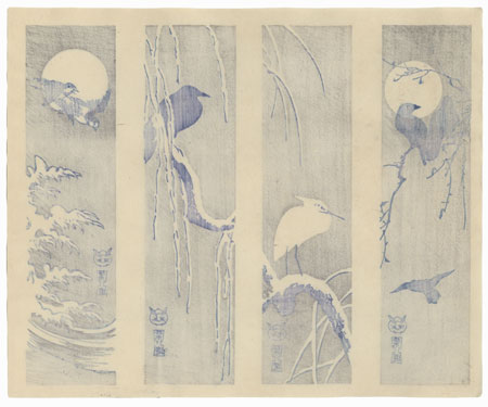 Tanzaku Prints with Birds by Shin-hanga & Modern artist (not read)