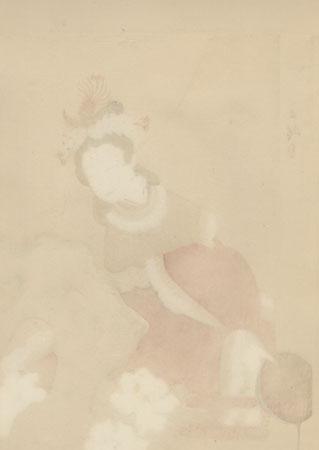 Kokusen'ya Kassen - A Lady in Chinese Costume by Suisho Nishiyama (1879 - 1958)