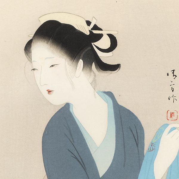 The Heroine Osai, 1923 by Kiyokata Kaburagi (1886 - 1972)