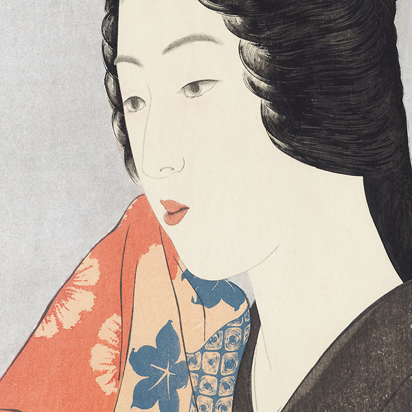 Beauty With a Hand Towel, 1920 - Limited Edition Commemorative Print by Hashiguchi Goyo (1880 - 1921)