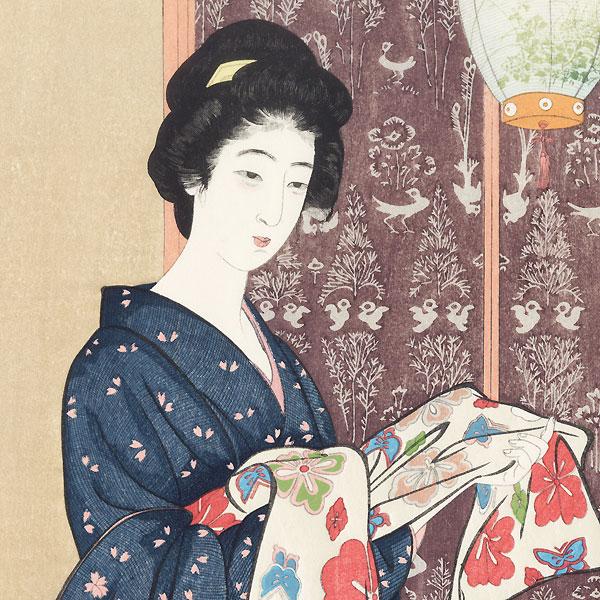 Beauty in Summer Kimono, 1920 - Limited Edition Commemorative Print by Hashiguchi Goyo (1880 - 1921)