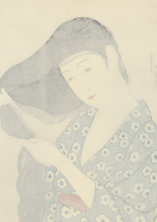 Beauty Combing her Hair, 1920 - Limited Edition Commemorative Print by Hashiguchi Goyo (1880 - 1921)