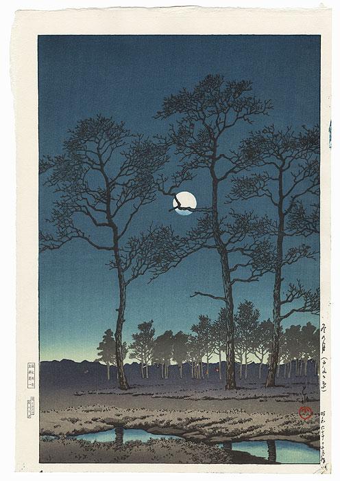 Winter Moon over Toyama Plain, 1931 by Hasui (1883 - 1957)