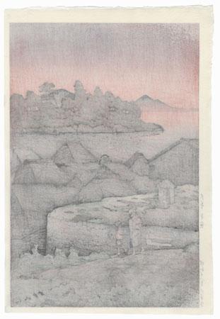 Amakusa Honryo, 1937 by Hasui (1883 - 1957)