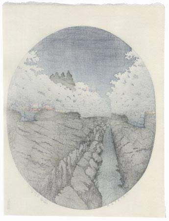 Cherries at Night in Koganei, 1935 by Hasui (1883 - 1957)