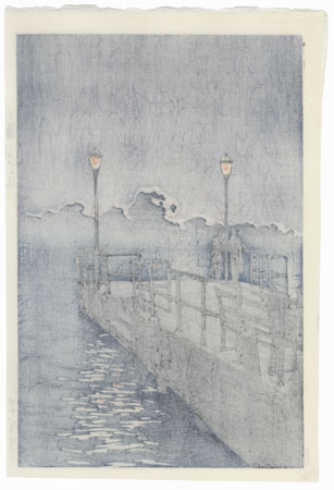 Pier at Otaru, 1933 by Hasui (1883 - 1957)