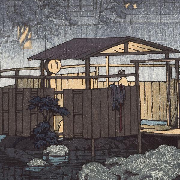 Shuzenji no Ame, 1933 by Hasui (1883 - 1957)