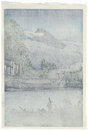 Tagonourabashi, 1930 by Hasui (1883 - 1957)