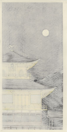 Moonlight at the Golden Pavilion (Kinkakuji Getsumei) by Teruhide Kato (1936 - 2015)