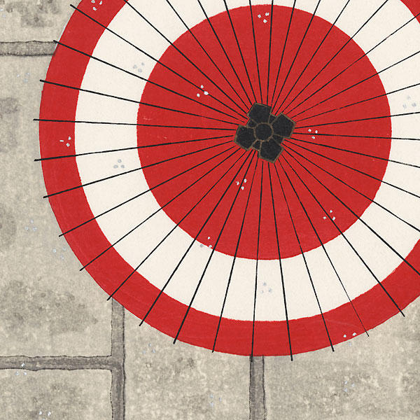 Umbrella Rendevous by Teruhide Kato (1936 - 2015)