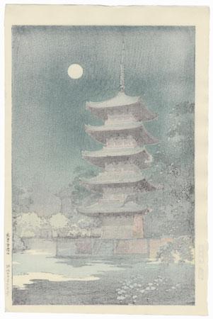 Asakusa Kinryuzan Temple, 1938 by Tsuchiya Koitsu (1870 - 1949)