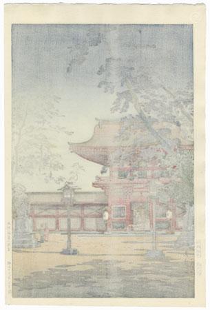 Hakozaki Hachimangu Shrine, Kyushu, 1938  by Tsuchiya Koitsu (1870 - 1949)