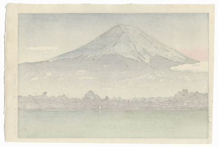 Morning Fuji from Lake Kawaguchi, 1936 by Tsuchiya Koitsu (1870 - 1949)