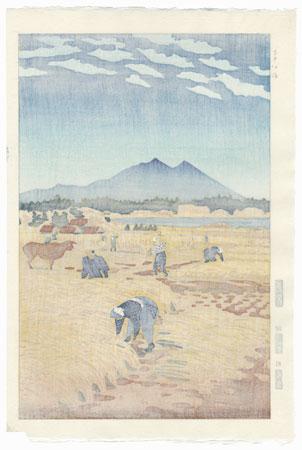 Harvesting, 1953 by Shiro Kasamatsu (1898 - 1991)