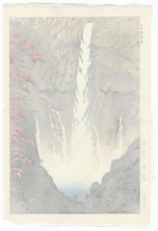 Kegon Waterfall at Nikko, 1952 by Shiro Kasamatsu (1898 - 1991)