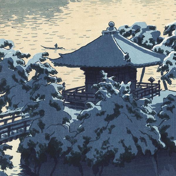 Snow at Godaido, Matsushima, 1954 by Shiro Kasamatsu (1898 - 1991)