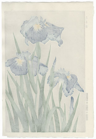 Blue Irises by Kawarazaki Shodo (1889 - 1973)