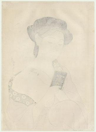 Beauty Applying Powder, 1918 by Hashiguchi Goyo (1880 - 1921)