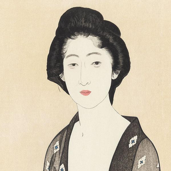 Beauty in Summer Kimono, 1920 by Hashiguchi Goyo (1880 - 1921)