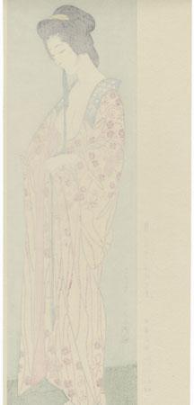 Beauty in a Long Undergarment, 1920 by Hashiguchi Goyo (1880 - 1921)