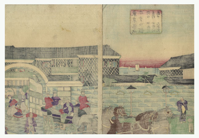 Fuji Arts Overstock Diptych - Exceptional Bargain! by Hiroshige III (1843 - 1894)