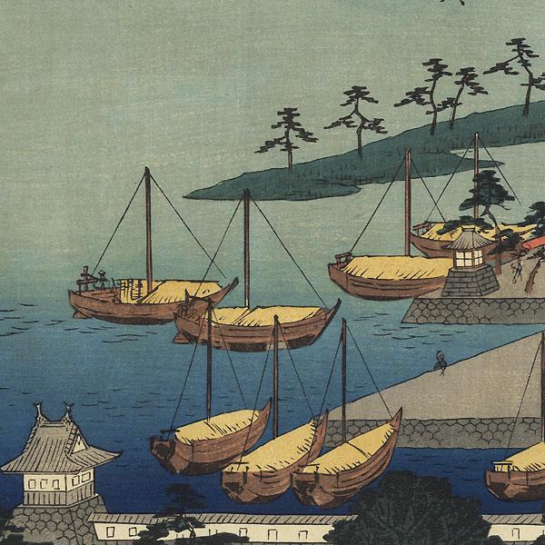Miya, Station No. 42 by Hiroshige (1797 - 1858)