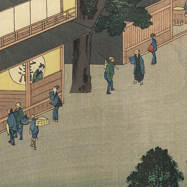 Mishima, Station No. 12 by Hiroshige (1797 - 1858)