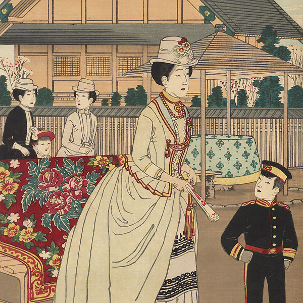 Fuji Arts Overstock Triptych - Exceptional Bargain! by Yasuji Inoue (1864 - 1889)