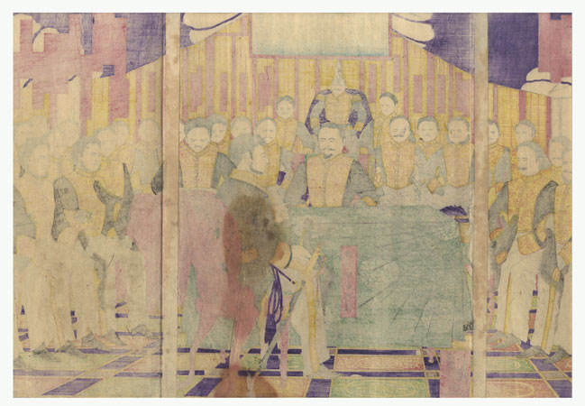 Fuji Arts Overstock Triptych - Exceptional Bargain! by Toyonobu (1859 - 1886)
