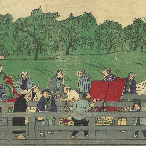 Fuji Arts Overstock Triptych - Exceptional Bargain! by Yoshitora (active circa 1840 - 1880)
