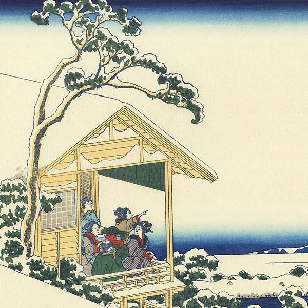 Snowy Morning at Koishikawa by Hokusai (1760 - 1849)