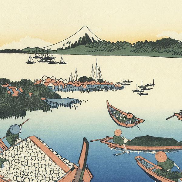 Tsukuda Island in Musashi Province, Edo by Hokusai (1760 - 1849)