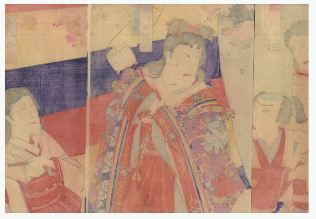 Fuji Arts Overstock Triptych - Exceptional Bargain! by Kunichika (1835 - 1900)