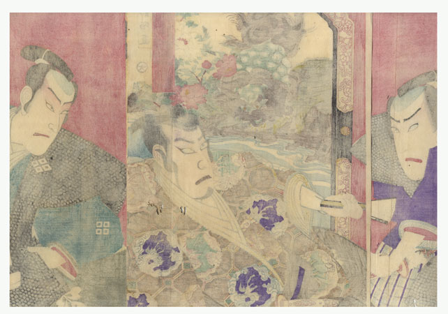 Fuji Arts Overstock Triptych - Exceptional Bargain! by Chikayoshi (active circa 1867 - 1890)