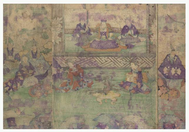 Fuji Arts Overstock Triptych - Exceptional Bargain! by Kuniteru II (1829 - 1874)