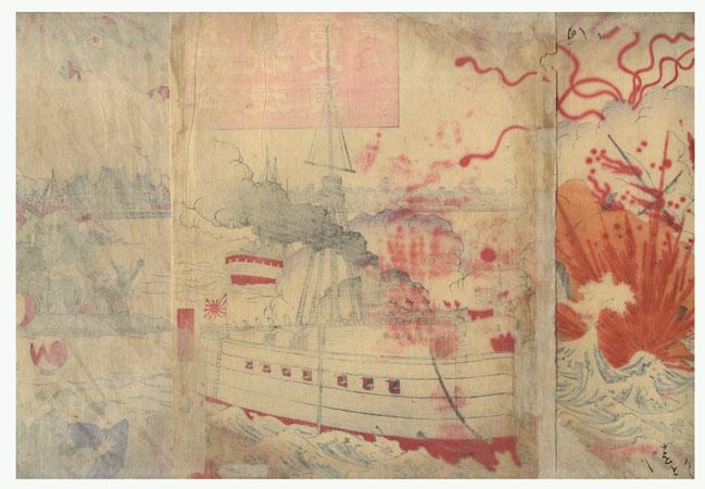 Fuji Arts Overstock Triptych - Exceptional Bargain! by Meiji era artist (unsigned)
