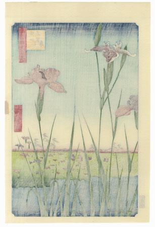 Horikiri Iris Garden  by Hiroshige (1797 - 1858)