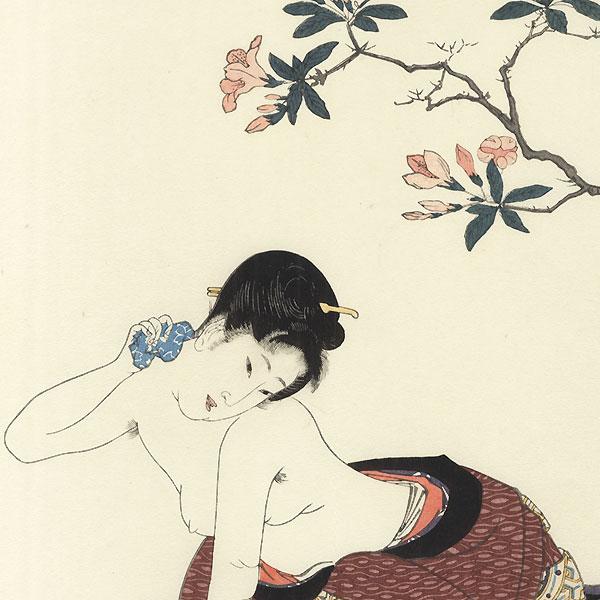 Beauty Bathing by Toyokuni I (1769 - 1825)