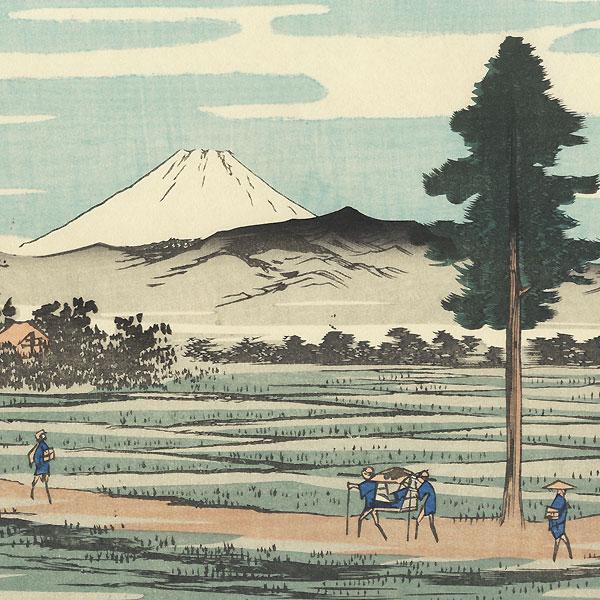 Tokaido Omori Nawate by Hiroshige (1797 - 1858)
