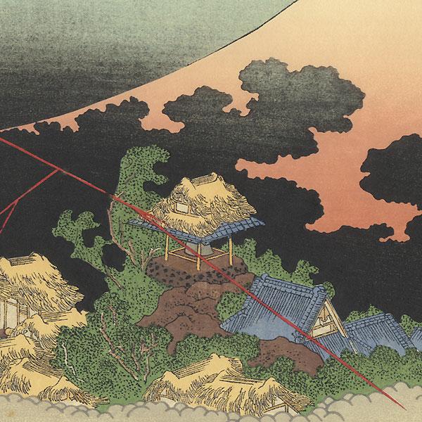 Mt. Fuji in an Evening Shower by Hokusai (1760 - 1849)