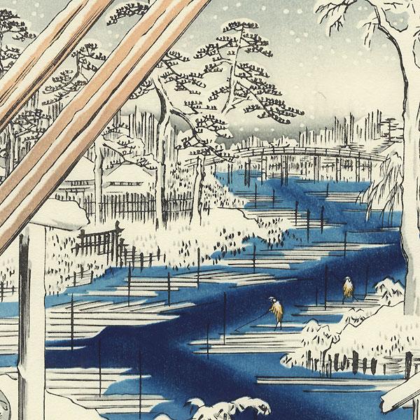 Fukagawa Lumberyards by Hiroshige (1797 - 1858)